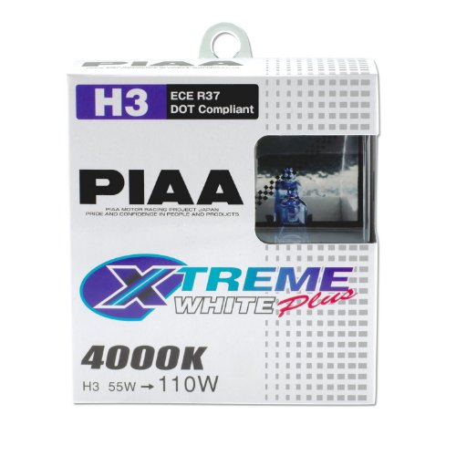 PIAA 15223 H3 Xtreme White Plus High Performance Halogen Bulb, (Pack of 2) (H3 Bulb White compare prices)