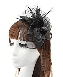 MerryDay Women\'s Fascinators Small Hairpin Feather Hat