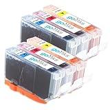 2 Compatible C/M/Y Sets of 3 Colour HP 364 XL Printer Ink Cartridges for HP Photosmart 5510, 5510, 5512, 5514, 5515, 5520, 5524, 6510, 6520, 7510, 7520, B010a, B109a, B109c, B109d, B109f, B109n, B109q, B110a, B110c, B110d, B110e, B8550, B8553, C5380, C53