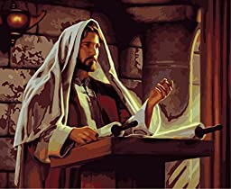 [ New Release ] Diy Oil Painting by Numbers, Paint by Number Kits - Jesus Mission 16*20 inches - Digital Oil Painting Canvas Wall Art Artwork Landscape Paintings for Home Living Room Office Christmas Decor Decorations Gifts - Diy Paint by Numbers Diy Canv