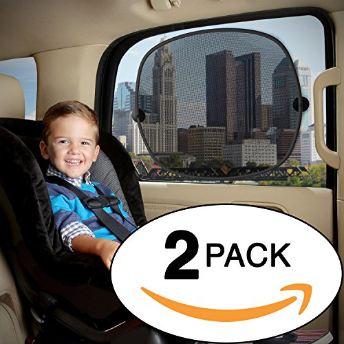 Baby Everest Car Sun Shade 2 Pack - Baby Car Window Shades - Sunlight & Glare Protection - Extra Large UV Blocker - Sun Protection For Car, Baby and Kids - *Satisfaction Guaranteed*