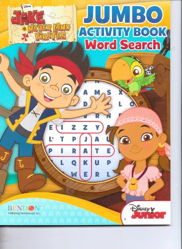 Jake & the Never Land Pirates 64 Page Jumbo Activity Word Search Book - 1