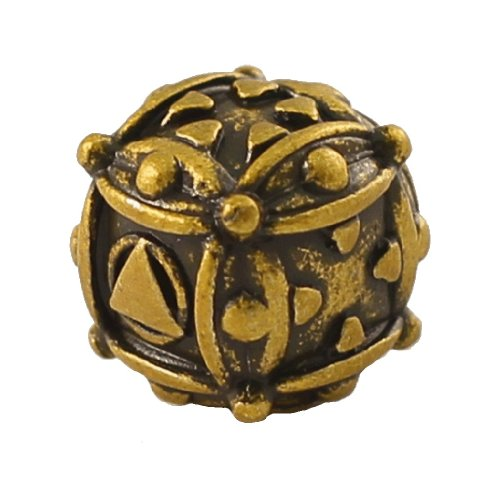1 (One) Single IronDie: Solid Metal Italian Dice - Yellow Ballistic (Die-Cast Designer Six-Sided Die / d6) - 1