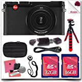 "Leica X Typ 113 18440 Digital Camera with 3-Inch TFT LCD (Black) + 16GB SDHC Class 10 Card + 32GB SDHC Class 10 Card + Soft Camera Case + 12"" Flexible Tripod + HDMI Cable 11pc Leica Saver Bundle"