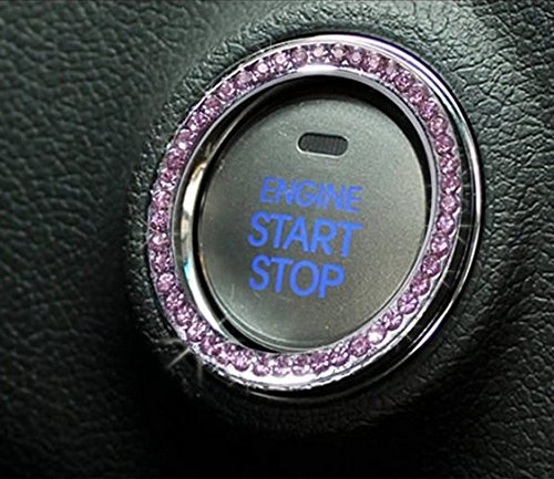 JessicaAlba Car Engine Start Stop Ignition Key Ring Car Auto Interior Decoration For Ford F150 F250 F350 Fusion Edge Escape Kuga Expedition Explorer MUSTANG (Ford Emblem Back Of Explorer compare prices)