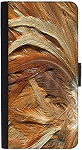 Snoogg Feathers 3 Texture Graphic Snap On Hard Back Leather + Pc Flip Cover H...