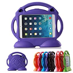 iPad 2 3 4 Cases iPad 2 3 4 Covers Lioeo Durable Cute Foam Childproof Shock Proof Protective Kids Cover Case with Stand and Carrying Handle for Apple iPad 2 3 4 9.7 Inch Screen (Purple)