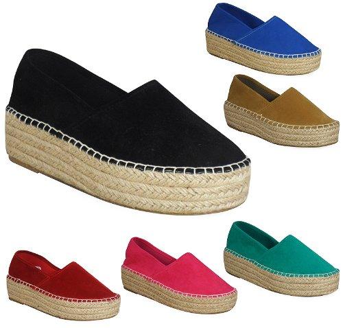 LoudLook Ladies Womens Thick High Comfy Uk Platform Casual Pumps Flats Summer Shoes Size 3 4 5 6 7 8 UK