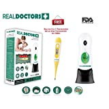 Temporal Forehead Ear Thermometer & Oral Thermometer Bundle Digital Medical Thermometer Fever Thermometer FDA Approved 8 in 1 Instant Read & Accurate Thermometer Contact Thermometer For Adults