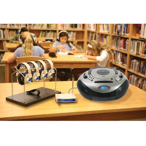 Spirit Sd Listening Center With Wireless Headphones, Transmitter 4 Person