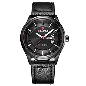 InfiniteS Men's Quartz Wrist Watches with Leather Band Waterproof