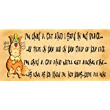 Wooden Funny Sign Wall Plaque. I'm Only A Cat.