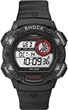 Timex Expedition Men's Digital Watch with LCD Dial Digital Display and Black Resin Strap - T49977