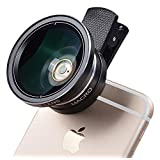 Apexel 12x Manual Focus Telephoto Lens+0.45X Wide Angle Lens+12.5x Macro Lens for iPhone 7/7 plus 6/6s and Samsung Galaxy S7/S7 Edge most Smartphone-Black