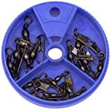 Eagle Claw Snap Swivel with Interlock Assortment, 20 Piece (Black)