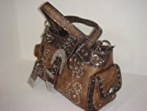 Cocoa Brown Rhinestone Bling Concealed Weapon Purse Montana West BEG-8085