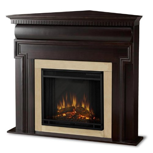 Real Flame Mt. Vernon Corner Electric Fireplace in Dark Walnut picture B006QTZRBG.jpg