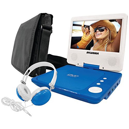 For Sale! Sylvania SDVD7060-Combo-Blue 7-Inch Portable DVD Player Bundle with Matching Oversize Head...