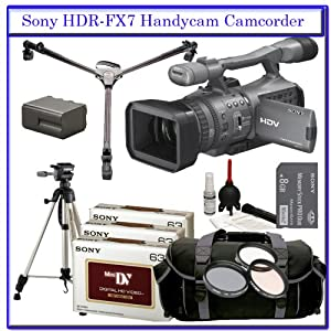 Sony HDR-FX7 3-CMOS Sensor HDV High-Definition Handycam Camcorder with 20x Optical Zoom + Willoughby's Professional Photographers Package