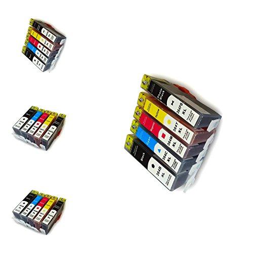 20 Druckerpatronen HP364XL für HP OfficeJet 4620? 8 x schwarz ?4x rot? 4 x blau? 4 x gelb XL Befüllung