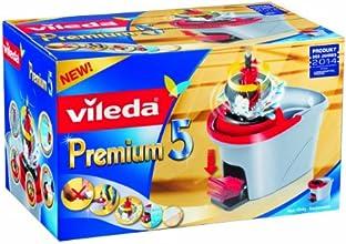 Vileda Premium 5 140784 - Cubo de fregar con sistema rotatorio (complemento perfecto para fregar el suelo)