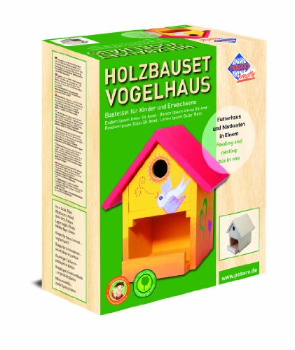 pebaro 466 bastel holzbauset vogelhaus. Black Bedroom Furniture Sets. Home Design Ideas