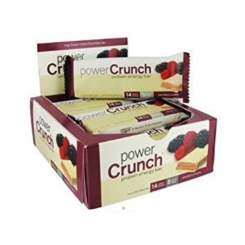 BioNutritional Research Group Power Crunch Protein Energy Bar Wild Berry Creme -- 12 Bars by POWER CRUNCH (English Manual)
