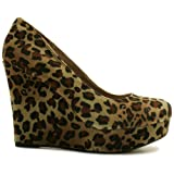 Spy Love Buy Natalia Suede Style Platform Wedge Shoes