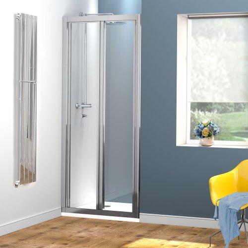800mm Bi-Fold Glass Shower Enclosure Cubicle Doors Set