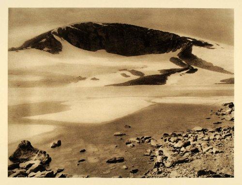 1932 Gjuvvatn Kjelentind Jotunheimen Gyvatn Norway - ORIGINAL PHOTOGRAVURE - Original Photogravure
