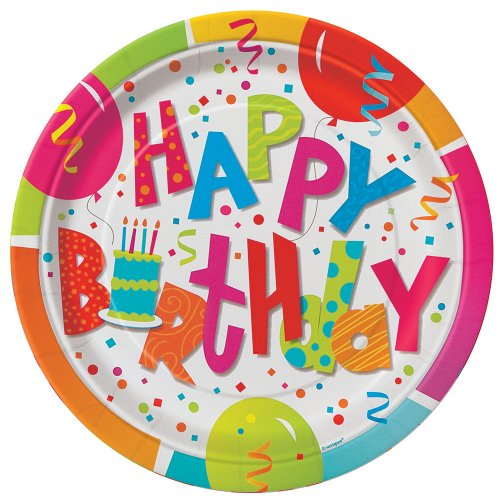 Find Discount Unique Birthday Jamboree Dinner Plates (8 Count), Multicolor, 9""