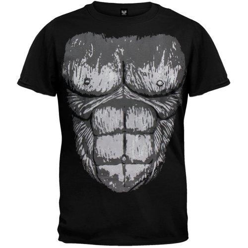 Old Glory - Mens Gorilla Suit Costume T-shirt Medium Black (Youth Gorilla Costume)