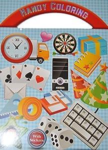 Livre de Coloriage - Objet - 16 Pages + Autocollant