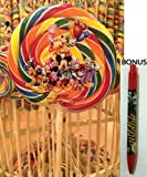 Disney Parks Mickey and Friends Rainbow Lollipop (8.5oz) - Disney Parks Exclusive & Limited Availability + BONUS Mystery Mickey Pen Included