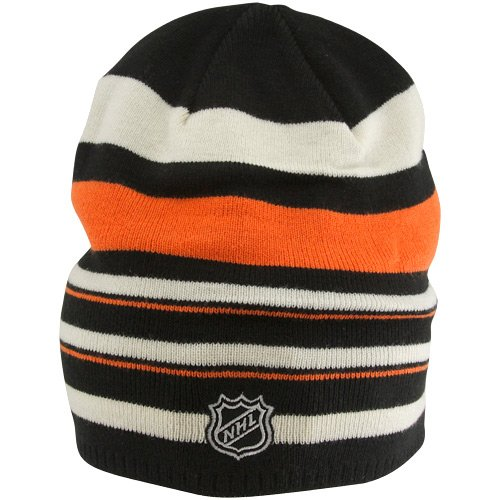 NHL Reebok Philadelphia Flyers Orange-Black 2012 Wnter Classic Player Reversible Uncuffed Knit Beanie