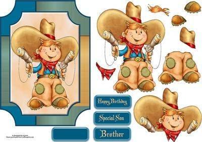 cowboy mit 3D-Motiv von Wendy Jones