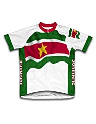Suriname Flag Short Sleeve Cycling Jersey for Women