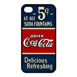 Personalized Creative coca-cola old 5 cents Silicon iPhone 4/4S Case, Best Durable Coca Cola iPhone 4/4S Case Cover