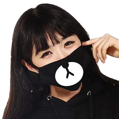 ZWZCYZ-Couples-Cotton-Cartoon-Expression-Teeth-saliva-Face-Mask-Good-Boy-Anti-dust-Cycling-Mouth-Warm-Mask-Cute-Muffle-Muzzle