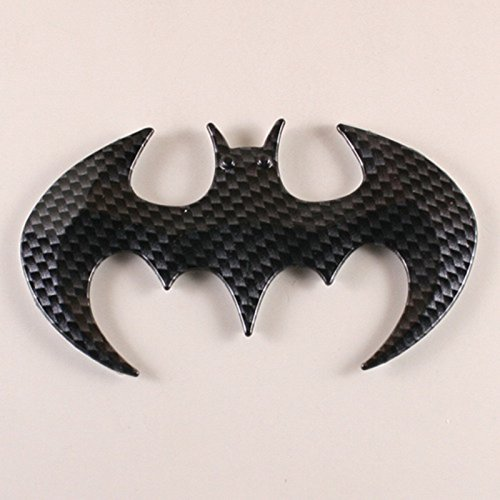 EFORCAR(R) 3PCS Black Bat Carbon Fiber 3D Bat Man Self Adhesive Emblem Sticker New
