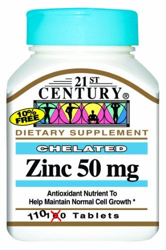 21st Century Zinc Chelat Zink Amino Chelat 50mg (1x 110 Tabletten)
