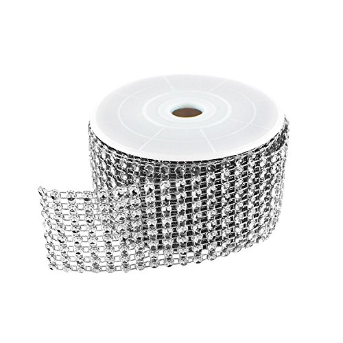 Review Diamond Sparkling Rhinestone Mesh Ribbon Roll for Arts & Crafts, Event Decorations, Wedding C...