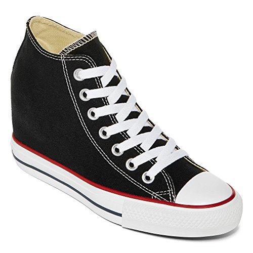 Converse Women's Chuck Taylor Lux Mid Black Casual Shoe 8 Women US