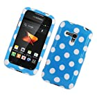 Eagle Cell PISAMM830G184 Stylish Hard Snap-On Protective Case for Samsung Galaxy Rush M830 - Retail Packaging - Blue/White Polka Dots
