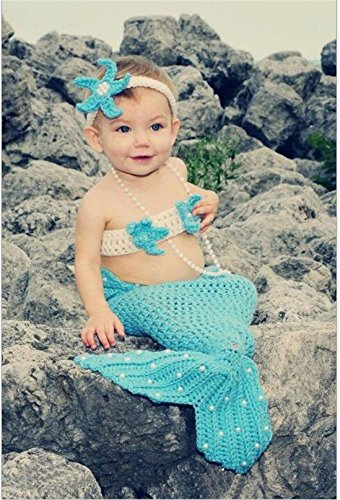 Smartcool Newborn Baby Girls Mermaid Tail Crochet Knitted Costume Outfit
