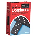 Pressman 1521-12 Toy Double Six Wooden Dominoes, Ages 7 and Above, Multicolor