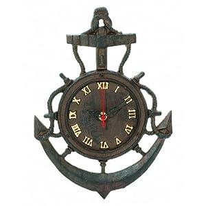 "Amazon.com - Rustic Cast Iron Vintage Anchor Clock 12"" - Marine"