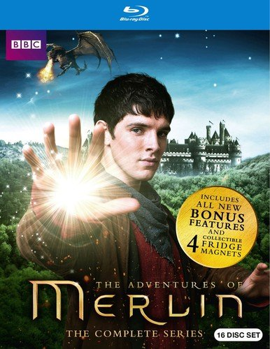 Blu-ray : Merlin Complete Series Gift Set (Gift Set, Boxed Set, Digibook Packaging, 16 Disc)