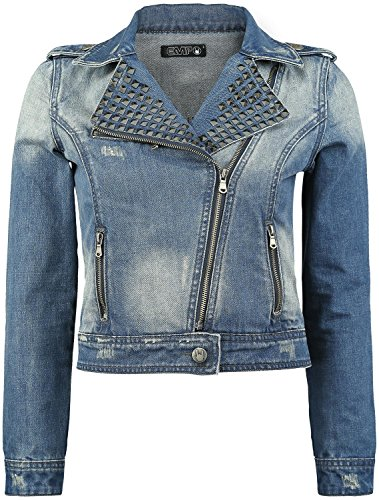 Black Premium by EMP Studded Jeans Jacket Giacca di jeans donna blu XS