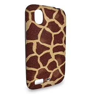 Handyschale Handycase für HTC Desire X veredelt mit YOUNiiK Styling Skin - Giraffe